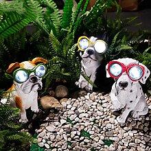 LED Solarleuchte Solarbetriebene Gartenleuchte Energie sparende Solarlampe Weiß Wasserdicht Außenleuchte IP65 Bodeneinbauleuchte Hund für Outdoor Garten (Rot)