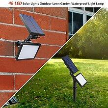 LED Solarleuchten,Bodenleuchte Garten 48 LED Solar