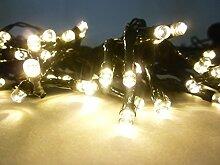 LED Solarlichterkette 48 flammig Solarpartyleuchte
