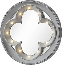 LED-Spiegel Blume, grau