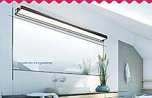Led Spiegel Frontlampe einfach modernes Badezimmer Toilette Wassernebellampe Edelstahl-Leuchte Wandkosmetikspiegel Lich