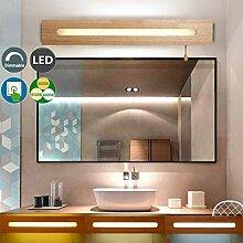 LED-Spiegel-Frontleuchte, dimmbar Holz