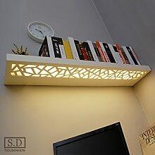 LED Spiegel Lampe Wandleuchte Ein Wort Trennwand Lampe Küche Bad Lagerung Wandbrett Studie Schlafzimmer Lampe Wohnzimmer Lampe, Lampe geschnitzt gelb 60 * 21