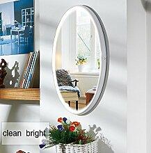 LED Spiegel, NANAMI Wandspiegel mit Beleuchtung, Moderne Wandspiegel Rund,Kosmetikspiegel Beleuchtet Mit 2 Dimmer-Modi durch Touch-Schalter (40 x 70 cm)
