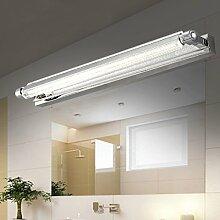 LED-Spiegel Scheinwerfer Dimmable Einfache moderne Edelstahl Badezimmer Schlafzimmer Badezimmer Lichter Spiegel Schrank Lampe Wand Lampe ( größe : Large -58cm 14w )