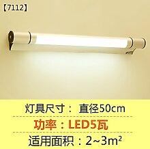 """LED-Spiegel vorne Lampe Spiegel Schrank Lampe Bad WC einfache Wandleuchte wasserdicht Feuchtigkeit Nebel Spiegel Malerei Beleuchtung Lampen, """"7112"""" 50cm5w"""