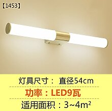 """LED-Spiegel vorne Lampe Spiegel Schrank Lampe Bad WC einfache Wandleuchte wasserdicht Feuchtigkeit Nebel Spiegel Malerei Beleuchtung Lampen, """"1453"""" 54cm9w"""