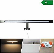 LED Spiegelbeleuchtung Wandleuchte Badleuchte IP 44 Spiegelleuchte Spiegelschrank Bad (weiß-60cm)
