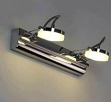 &LED Spiegelfrontlampe Edelstahl-Spiegel-Lampe,
