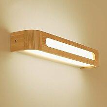 &LED Spiegelfrontlampe Massivholz Spiegel Front