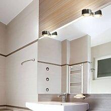 LED-Spiegelklemmleuchte Puk Fix, chrom