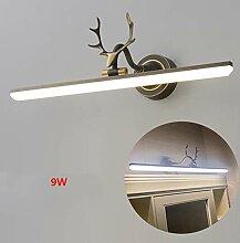 LED Spiegelleuchte,Alles Kupfer/Acryl Geweih