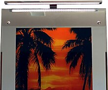 LED Spiegelleuchte Spiegellampe Aufbauleuchte aus verchromten Aluminium 6W tageslichtweiß