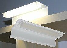 LED Spiegelleuchte weiß / Mod. 7085 / Aufbauleuchte 9W 900LM 4000K Badleuchte Möbelleuchte Schrankleuchte LED Beleuchtung HELITEC
