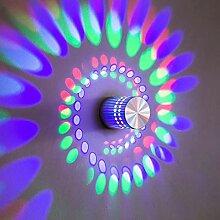 LED Spirale Wandbeleuchtung, Surface-mount