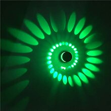 LED Spirale Wandbeleuchtung, Surface-mount