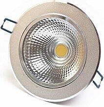 LED Spot COB - silber, 12 Watt, warmweiß