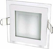 LED Spot Einbaustrahler Kristallglas eckig - mit