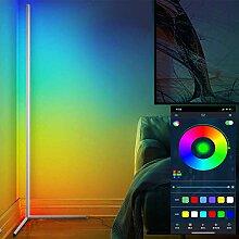 LED Stehlampe 20W mit RGB Deckenfluter Eckleuchten