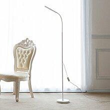 LED-Stehlampe, Wohnzimmer Bedside Schlafzimmer Studie Modern Einfache Helligkeit Färbung ( Farbe : Weiß )