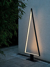LED-Stehleuchte Pine Outdoor sompex grau, 160x62 cm