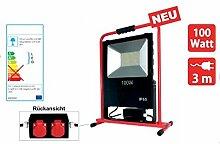 LED Strahler 100 Watt IP54 inkl. 2 Schuko