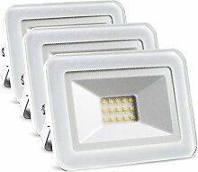 LED Strahler außen 10W 3er set (ersetzt 3x 90W