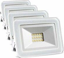 LED Strahler außen 10W 4er set (ersetzt 4x 90W