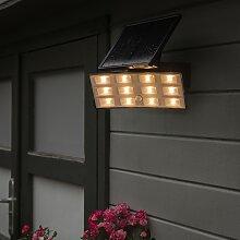 LED-Strahler Flip auf Sonnenenergie mit PIR IP44
