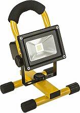 LED Strahler Fluter Leuchte Scheinwerfer Flutlicht Baustrahler Außenleuchte 240V/12V oder Akku Betrieb 360° Halterung…