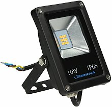 LED Strahler, LED Fluter, SLIM 10 Watt Warmweiss LED Flutlicht, 10W 900 Lumen Ersetzt 100 Watt, 220-240V, (10W WARMWEISS)