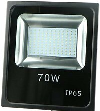 LED Strahler, LED Fluter, SLIM 70 Watt Warmweiss LED Flutlicht, 70W 6300 Lumen Ersetzt 700 Watt, 220-240V, (70W WARMWEISS)