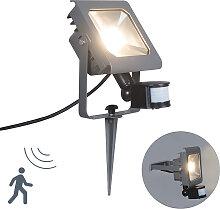 LED Strahler Radius 2 30W PIR dunkelgrau mit