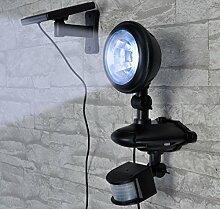 LED Strahler Solar Außenleuchte mit