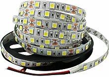 LED Strip 5mt Strip 300SMD 505012V 5M IP20Licht Spule selbstklebend 14.4WMT–Licht weiß natur