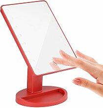 led Tabletop Kosmetikspiegel Quadratische große leuchtende Spiegel Princess of Beauty Spiegel Gib Geschenke Spiegel-I