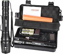 LED Taktische Taschenlampen Set, Gusspower X800