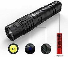 LED Taschenlampe 1200 Lumen Seite Doppeltaster