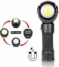 LED-Taschenlampe 360 Grad T6 + COB Laterne, 8000