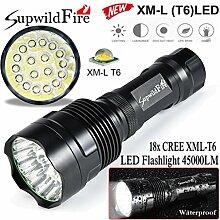 LED Taschenlampe 45000 Lumen, Gusspower 18 x XM-L