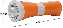 Led Taschenlampe Blendung wiederaufladbare Fackel Multi Funktions Portable Tischlampe Home Lighting Notleuchten,Orange