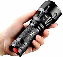 LED Taschenlampe,Extrem Hell CREE Handlampe für