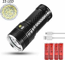 LED Taschenlampe Extrem helle USB wiederaufladbare