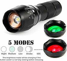 LED Taschenlampe mit 3 Farben, Gusspower Taktische