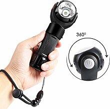LED Taschenlampe, USB Wiederaufladbare 360 °