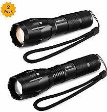 LED Taschenlampen PAVLIT mini taktische Taschenlampe hellste taschenlampe für test Camping, Wandern und Spaziergang wasserdicht 2018 NEU [2 Stück]