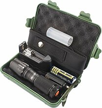 LED Taschenlampen-Set, Gusspower X800 Zoomable XML
