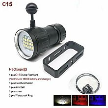 LED Tauchen Taschenlampe Unterwasser 80M XHP70 /
