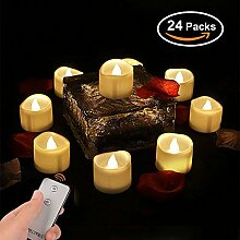LED Teelicht Kerzen mit Fernbedienung, LED Kerzen