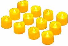 Led Teelicht Led Kerze, Adoric 12 x Led